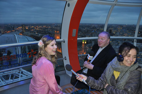 Hayley with Steve Allen on the London Eye © LBC