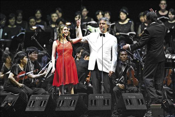 Hayley Westenra, Andrea Bocelli in Taipei (Liberty Times.com)